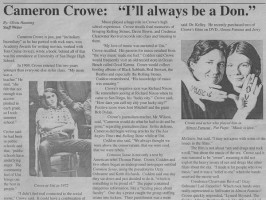 Vintage El Cid: Cameron Crowe Interview