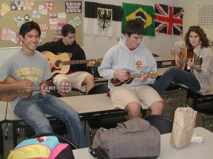 Guitar and Ukulele Club combine for music appreciation