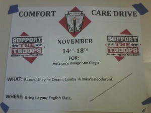 NHS collects for veterans&#8217; Comfort &amp; Care Drive