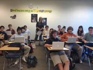 Mrs. Bricker's Calculus students accept math competition challenges