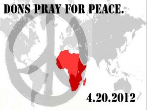 Dons 'Pray for Peace' to End Wars in Africa