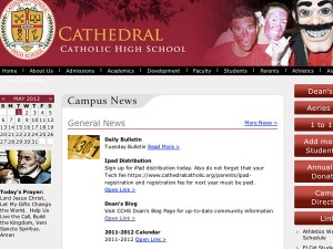 CCHS main page gets makeover