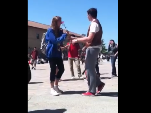 Student musters up the courage to get a prom date