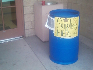 NHS collecting supplies for low-income Catholic schools
